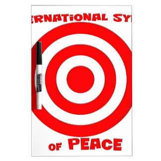 Símbolo internacional de la paz tableros blancos