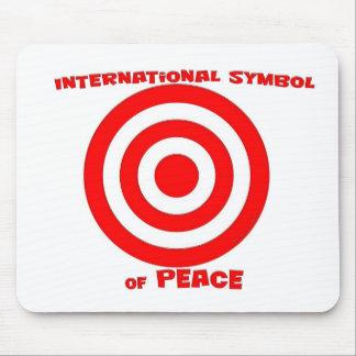 Símbolo internacional de la paz alfombrillas de ratones