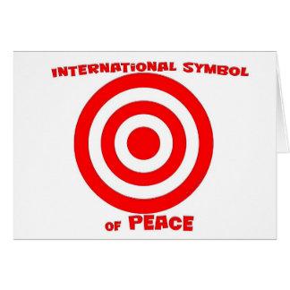 Símbolo internacional de la paz tarjeta de felicitación