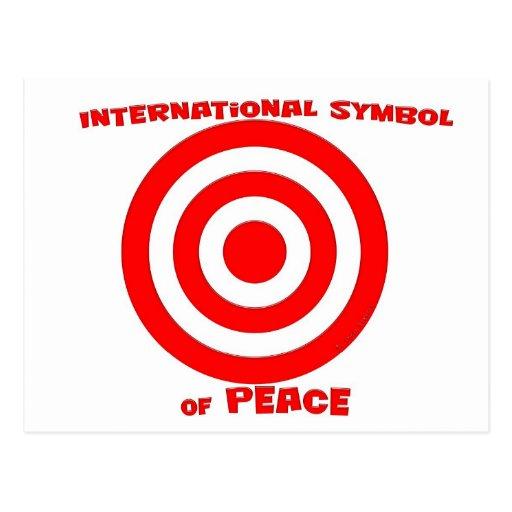 Símbolo internacional de la paz tarjetas postales