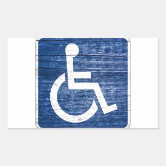 Símbolo internacional del acceso pegatina rectangular