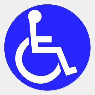 Símbolo internacional del acceso pegatina redonda