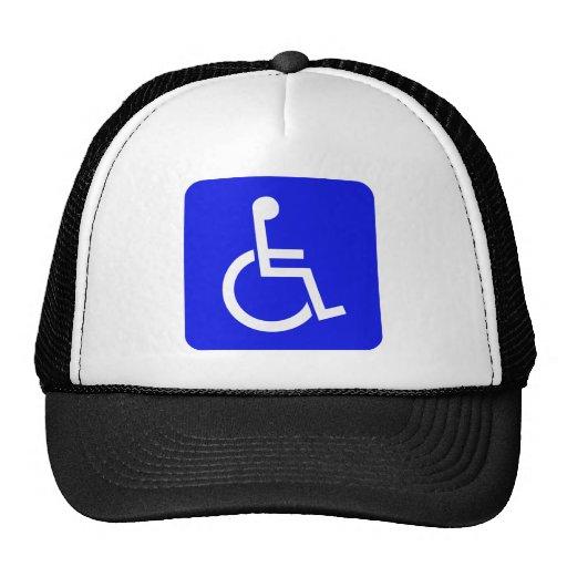 Símbolo internacional del casquillo del acceso gorros bordados