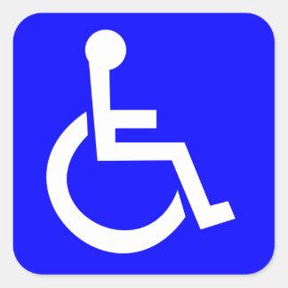 Símbolo internacional oficial del acceso pegatina cuadrada
