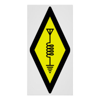 Símbolo internacional para el poster de radio afic