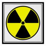 Símbolo ionizante radiactivo
