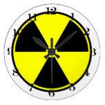 Símbolo ionizante radiactivo relojes