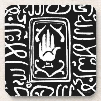 Símbolo islámico posavasos de bebida