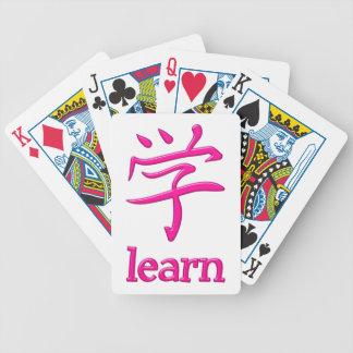 Símbolo Japón Kanji learn Baraja Cartas De Poker