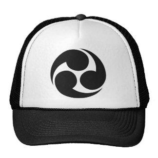 Símbolo japonés del escudo de la familia (KAMON) Gorro De Camionero