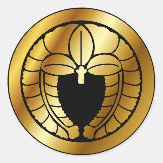 Símbolo japonés del escudo de la familia KAMON Pegatinas