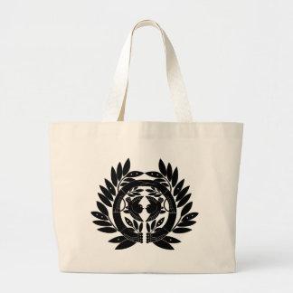 Símbolo japonés del escudo KAMON de la familia Bolsa Tela Grande