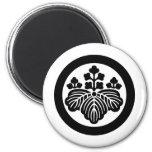 Símbolo japonés del escudo KAMON de la familia Imán Redondo 5 Cm
