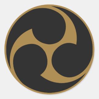 Símbolo japonés del escudo KAMON de la familia Pegatinas