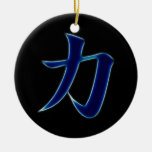 Símbolo japonés del kanji de la fuerza adorno