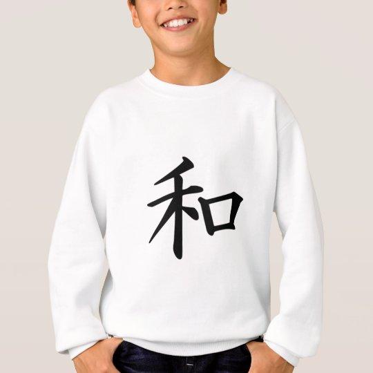 Símbolo japonés del kanji de la paz sudadera