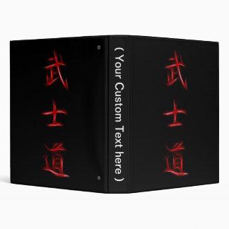 """Símbolo japonés del kanji del código del samurai d carpeta 1"""""""
