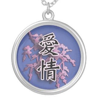 Símbolo japonés del kanji para el afecto colgantes