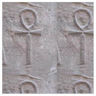 Símbolo jeroglífico de Ankh del egipcio de la vida Telas