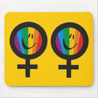 Símbolo lesbiano Mousepad Alfombrilla De Ratones