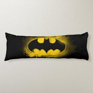 Símbolo logotipo negro y amarillo del | de Batman Almohada De Cuerpo Entero