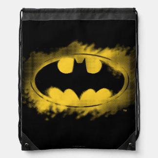 Símbolo logotipo negro y amarillo del   de Batman Mochilas