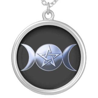 Símbolo lunar de la diosa colgante redondo