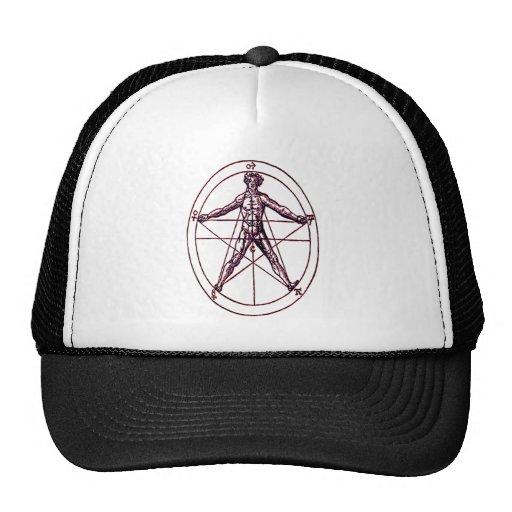 Símbolo *Magical de Pentagram* del hombre Gorros