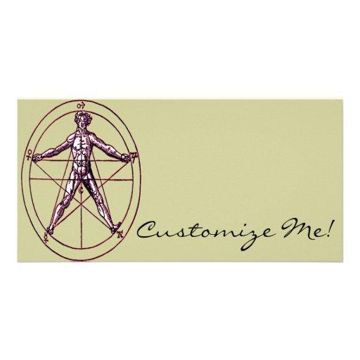 Símbolo *Magical de Pentagram* del hombre Tarjeta Fotográfica Personalizada
