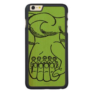 Símbolo: Mano divina Funda De Arce Carved® Para iPhone 6 Plus