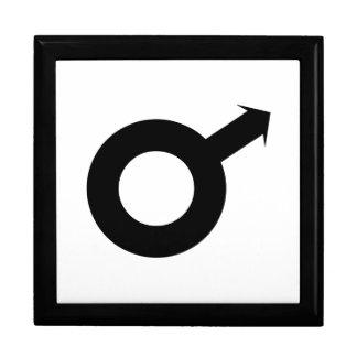 Símbolo masculino cajas de recuerdo
