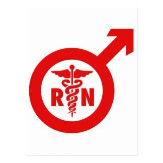 Símbolo masculino de la enfermera de Murse Postales