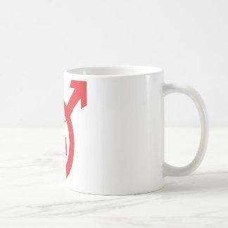Símbolo masculino de la enfermera de Murse Taza De Café