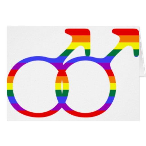 Símbolo masculino gay felicitacion