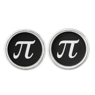 Símbolo matemático del pi mancuernillas