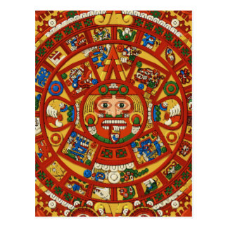 Símbolo maya antiguo del calendario tarjeta postal
