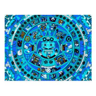 Símbolo maya antiguo del calendario postal