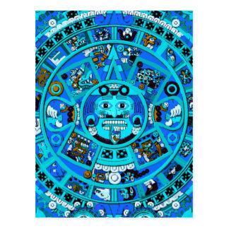 Símbolo maya antiguo del calendario postales