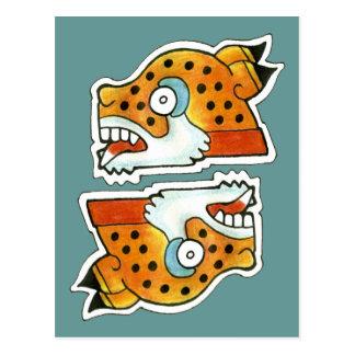 Símbolo maya de Jaguar Postal