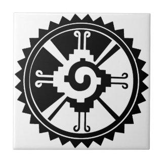 Símbolo maya Hunab Ku de la deidad Azulejo Cuadrado Pequeño