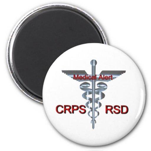Símbolo médico - alarma médica de CRPS RSD Imanes