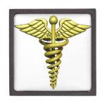 Símbolo médico caja de recuerdo de calidad