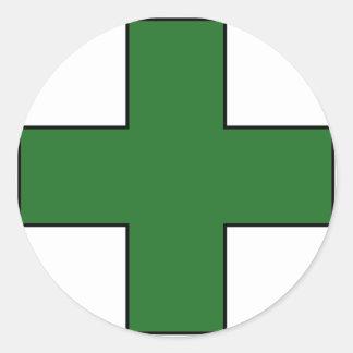 Símbolo médico cruzado médico del guardia de la sa pegatinas