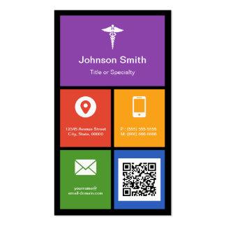 Símbolo médico de la farmacia - código colorido de tarjetas personales