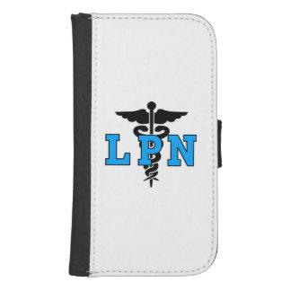 Símbolo médico de las enfermeras LPN Fundas Tipo Billetera Para Galaxy S4