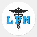 Símbolo médico de las enfermeras LPN Pegatinas