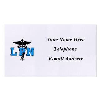 Símbolo médico de las enfermeras LPN Tarjeta Personal