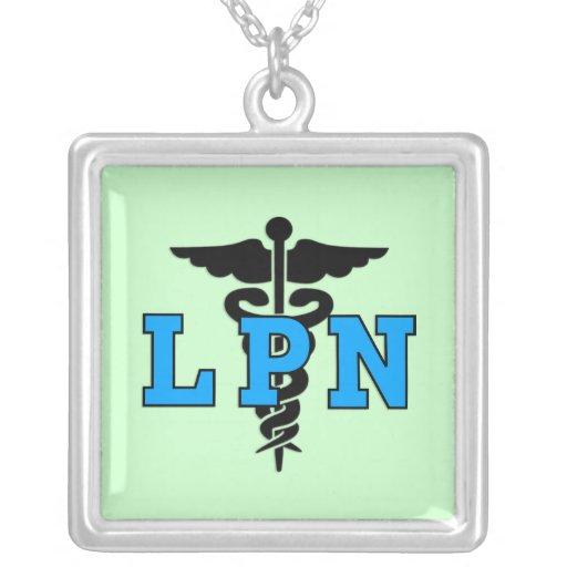 Símbolo médico de LPN Colgante Cuadrado