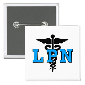 Símbolo médico de LPN Pin Cuadrada 5 Cm