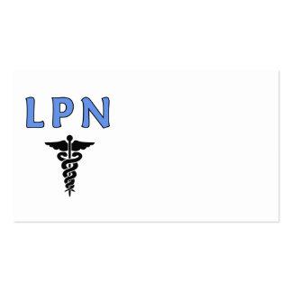 Símbolo médico del caduceo de LPN Tarjetas Personales